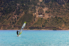 Windsurfer on the Aegean sea Stock Photos