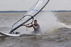Windsurfer body drag Stock Photography