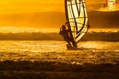 Windsurfer, Cape Town, Zuid-Afrika Stock Afbeeldingen