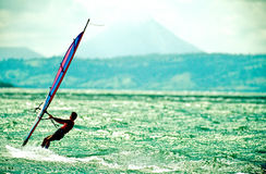 Windsurfer-Costa Rica Stock Photo