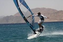 Windsurfer in Dahab. Extreme. stock photos