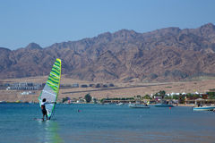 Windsurfer in Dahab Stock Photo
