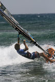 Windsurfer Davy Scheffers en concurrence PWA Images stock