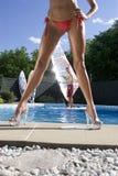 Windsurfer en piscina Fotos de archivo libres de regalías