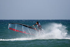 Windsurfer-Exercises Royalty Free Stock Photo