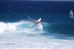 Windsurfer extrême Photos libres de droits