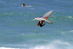 Windsurfer Extreme Windsurfing In Hawaii Stock Photo