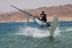 Windsurfer. Extremo. Fotografia de Stock