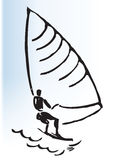 Windsurfer illustration Stock Images