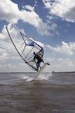 Windsurfer jumping Stock Photography