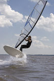 Windsurfer jumping Royalty Free Stock Image