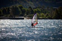 WindSurfer in Lake Como Stock Photography