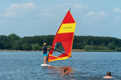 Windsurfer on the lake Royalty Free Stock Photography
