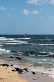 Windsurfer on Lanzarote Royalty Free Stock Photography
