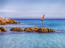 Windsurfer na morzu Zdjęcia Stock