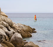 Windsurfer na morzu Zdjęcie Royalty Free