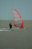 Windsurfer and parasurfer Stock Photos