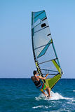Windsurfer passing by Royalty Free Stock Photography