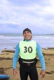 Windsurfer que obtém o terno pronto Fotos de Stock Royalty Free