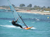 Windsurfer on regatta Stock Photography