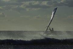 Windsurfer, Sanxenxo, 27 octobre 2012 Images stock