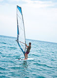 Windsurfer on the sea Stock Photo