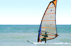 Windsurfer on the sea royalty free stock photography