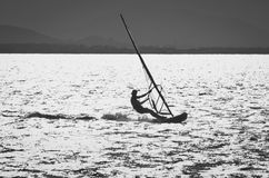 Windsurfer in the sea Stock Images