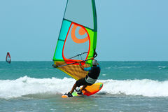 Windsurfer single Stock Images