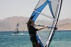 Windsurfer sorridente. Fotografia Stock