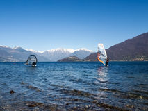 Windsurfer start from the beach Stock Photography