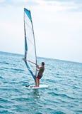 Windsurfer sul mare Fotografia Stock