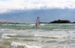 Windsurfer sul mare adriatico Immagine Stock