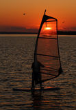 Windsurfer at Sunset Royalty Free Stock Image