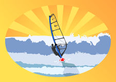 Windsurfer and Sunshine Royalty Free Stock Images