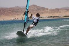 Windsurfer. Velocidade. Imagem de Stock