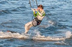 Windsurfer at Walvis Bay Royalty Free Stock Image