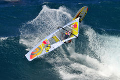 Windsurfer on wave Stock Image