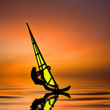 Windsurfer -windsurfer-anime Stock Afbeelding