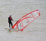Windsurfer windsurfing Obrazy Stock