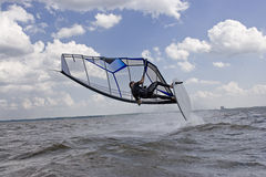 Windsurfer wipe out Royalty Free Stock Photo