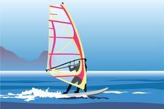 Windsurfer in Zweden Royalty-vrije Stock Fotografie