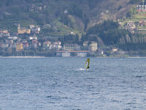 Windsurferpret in een dag van Breva Royalty-vrije Stock Fotografie