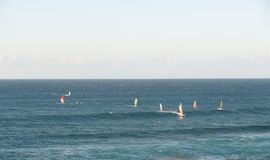 Windsurfers в океане Стоковая Фотография RF