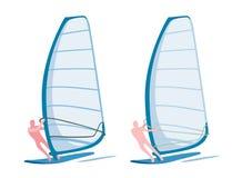 Windsurfers stock illustration