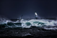 windsurfers Fotos de Stock Royalty Free