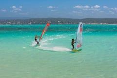 windsurfers fotos de archivo libres de regalías