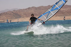 Windsurfers. Royalty Free Stock Photography