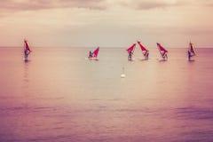 Windsurfers - Beginner Стоковое Фото