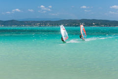 Windsurfers Stock Photo